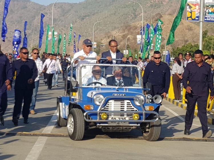 Wakili Presiden, Menteri PUPR Hadiri Peresmian Jembatan BJ Habibie di Dili