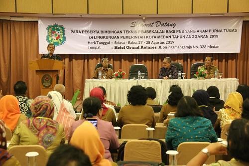150 ASN Pemko Medan Purna Tugas, BKD dan PSDM Berikan Pembekalan