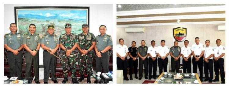 Danlantamal I Belawan dan PT KAI Sumut Silaturahmi ke Kodam I/BB