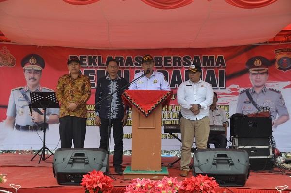 Jelang Pilpres dan Pileg 2019, Polres Nias Gelar Deklarasi Bersama Pemilu Damai