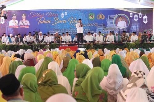 Ribuan Warga Medan Ikuti Zikir dan Tabligh Akbar Tahun Baru Islam di Lapangan Merdeka