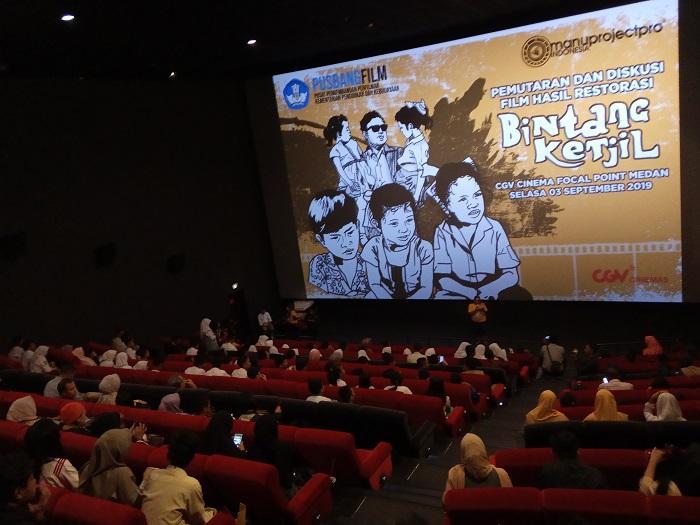 Film Restorasi Bintang Ketjil Tayang di Kota Medan, Ratusan Pelajar Padati Bangku Bioskop