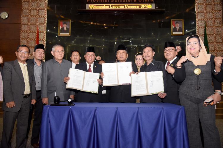 PAPBD 2019 dan RAPBD 2020 Disetujui DPRD Sumut, Gubernur Apresiasi Kerja Keras DPRD