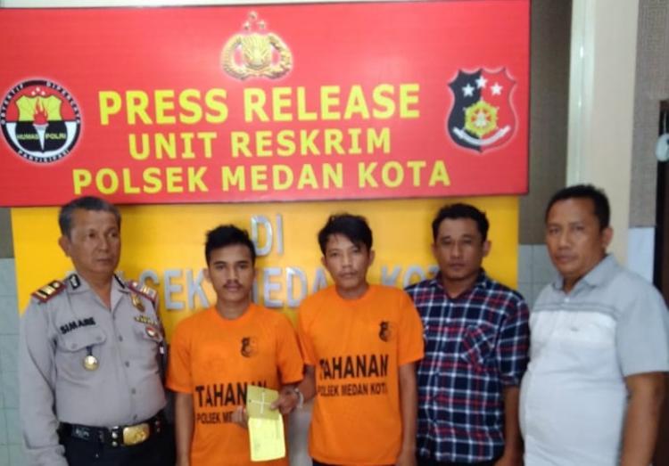 Dua Pria Pecandu Sabu Diamankan Polsek Medan Kota dari Jalan Jermal XV