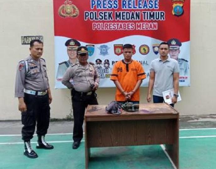 Pelaku Curanmor di UMSU Berhasil Dibekuk Polsek Medan Timur