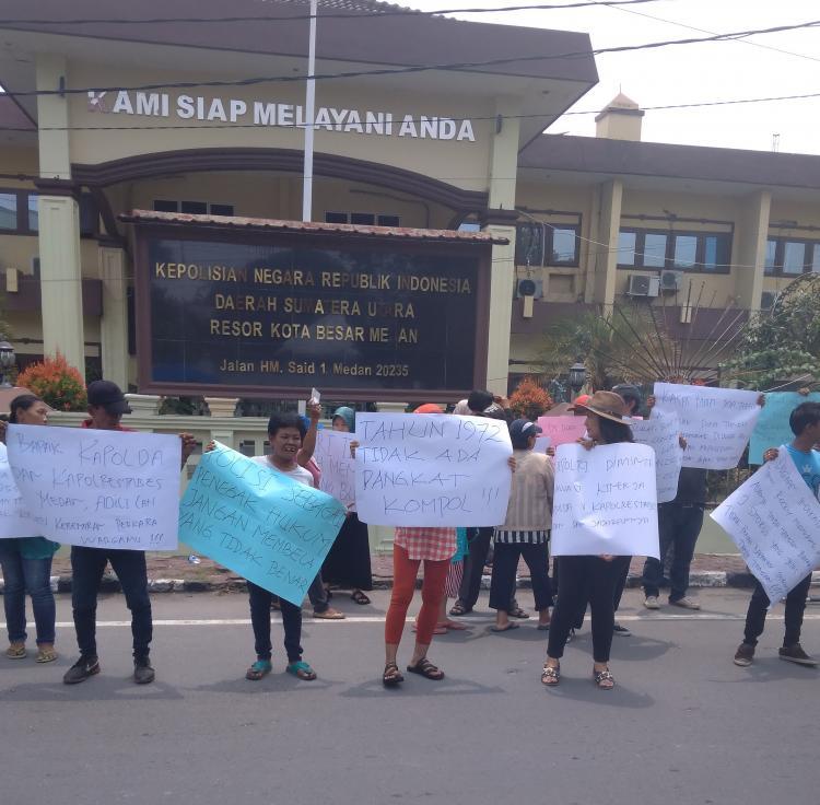 Lahan Diserobot Mafia Tanah, Ahli Waris Minta Keadilan di Polrestabes Medan