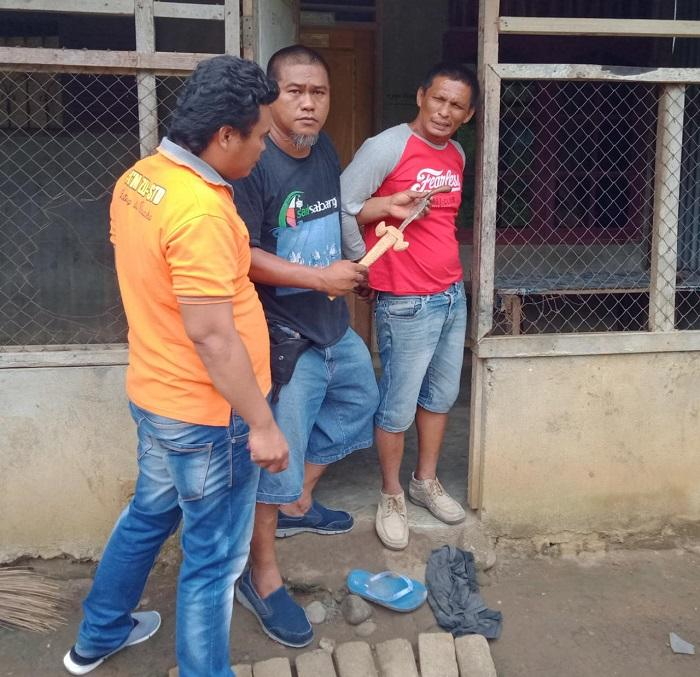 Polsek Pancurbatu Gempur Kampung Narkoba di Desa Lama, Sebilah Keris Diamankan