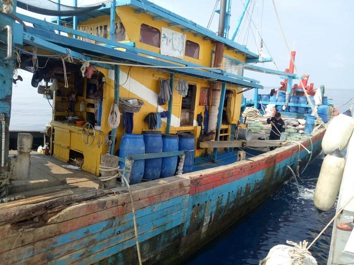 Bakamla RI Tangkap Kapal Ikan Berbendera Malaysia di Teluk Aru Belawan, Satu ABK Bawa Sabu