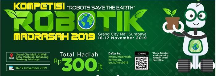 Grand Final Kompetisi Robotik Madrasah 2019, 150 Tim Lolos Seleksi