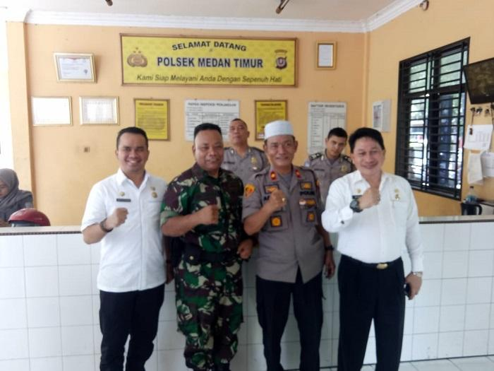 Kapolsek Medan Timur: Pengamanan Pemilu Sukses di Medan, Bukti Sinergitas TNI dan Polri