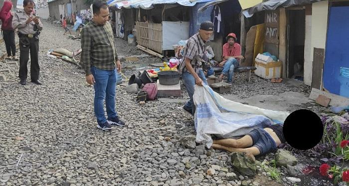 Pria Tanpa Identitas Tewas Ditabrak Kereta Api di Jalan Kalianda Medan