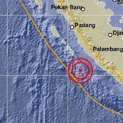 Samudera Hindia Pantai Barat di Sumatera Diguncang Gempa