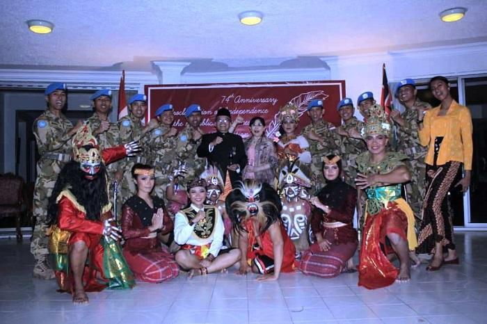 Satgas Konga XXXIX-A RDB Tampilkan Seni Budaya di Nairobi Kenya