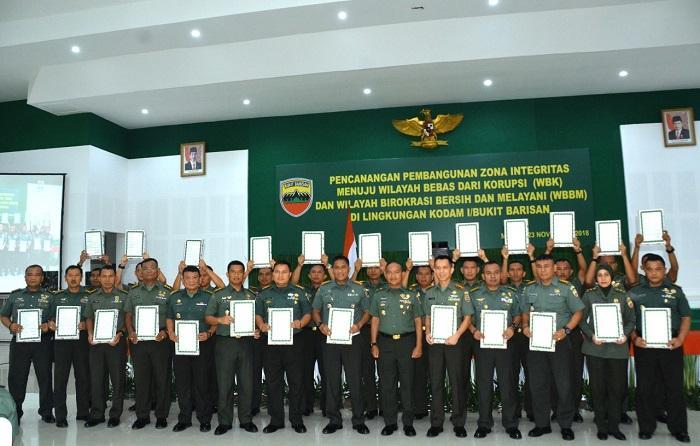 Kodam I/BB Canangkan Zona Bebas Korupsi dan Birokrasi Bersih