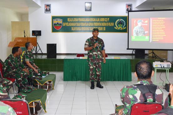 Korem 022/Pantai Timur Laksanakan Latihan Penanggulangan Bencana Alam