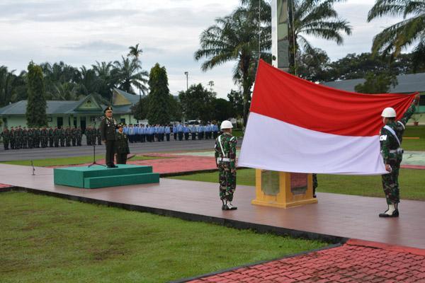 Danrem 022/Pantai Timur Pimpin Langsung Upacara Peringatan Hari Pahlawan di Makorem