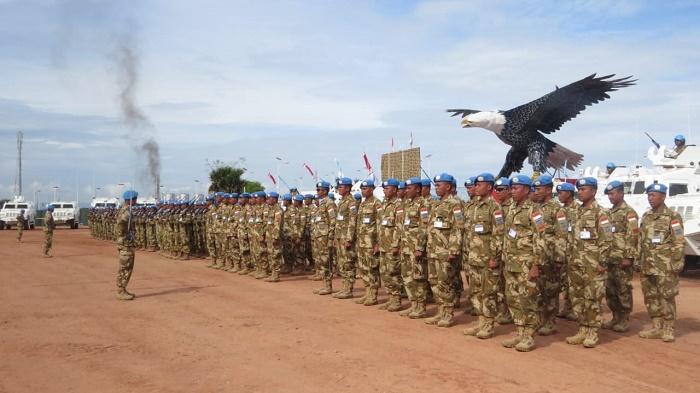 Satgas TNI di Republik Demokratik Kongo Serah Terima Otoritas Kendali Operasi