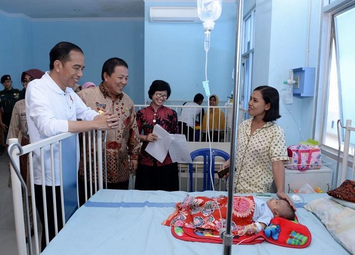 Presiden Jokowi Didampingi Gubernur, Tinjau RSUD Abdoel Moeloek Lampung