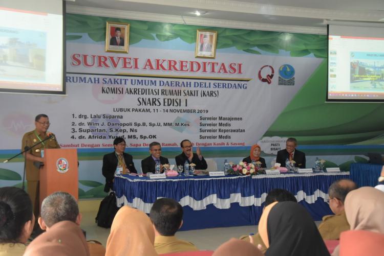Survei Akreditasi, Tim KARS Kunjungi RSUD Deli Serdang