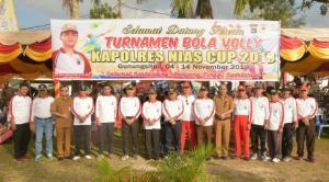 Turnamen Volly Piala Kapolres Nias Cup 2019 Dibuka