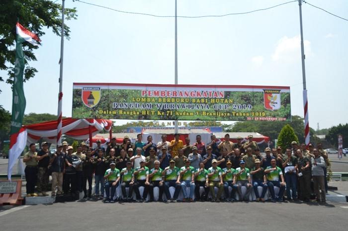 Kodam V/Brawijaya Gelar Lomba Berburu Babi di 5 Hutan Konservasi Jawa Timur