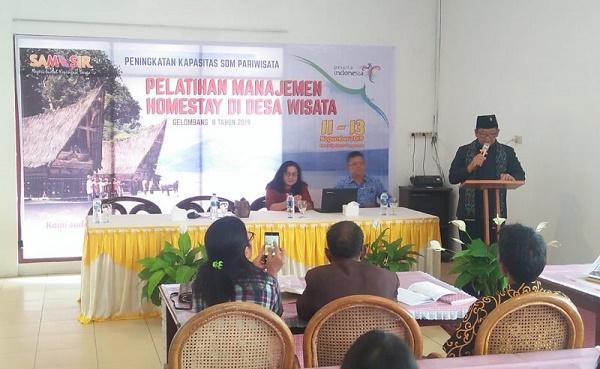 Wujudkan SDM Handal di Bidang Pariwisata, Pemkab Samosir Adakan Pelatihan Manajemen Homestay