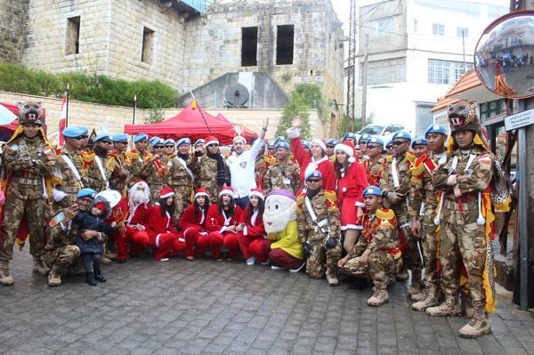 Drumband Satgas Yonmek XXIII-M/Unifil Meriahkan Natal di Lebanon Selatan