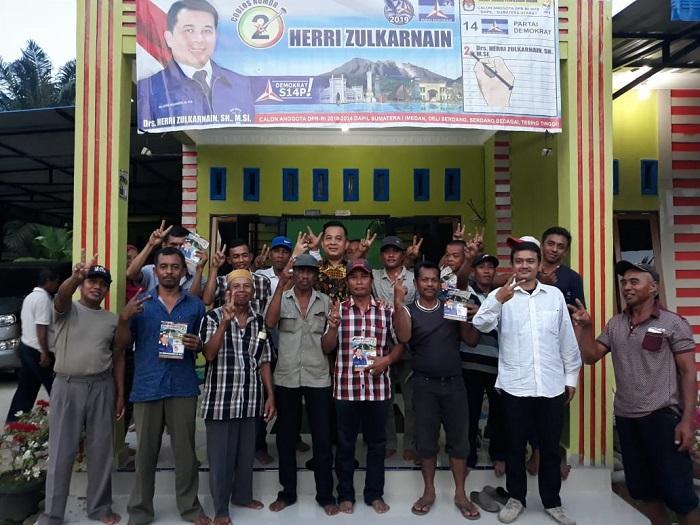 Herri Zulkarnain Dapat Dukungan Warga Dolok Masihul Menunju Senayan
