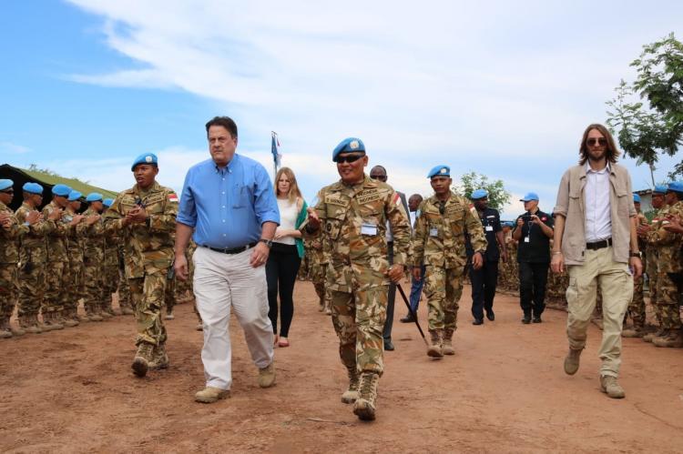 Dansatgas TNI Konga XXXIX-A/RDB Terima Kunjungan Perwakilan Khusus Sekjen PBB