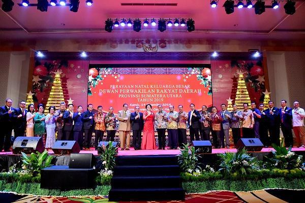 Perayaan Natal DPRD Sumut, Gubsu Ajak Semua Pihak Kerja Tulus untuk Rakyat