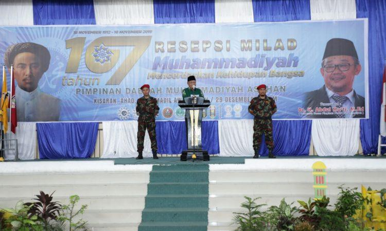 Bupati Asahan Ikuti Resepsi Milad Muhammadiyah ke-107 Tingkat Kabupaten  Asahan