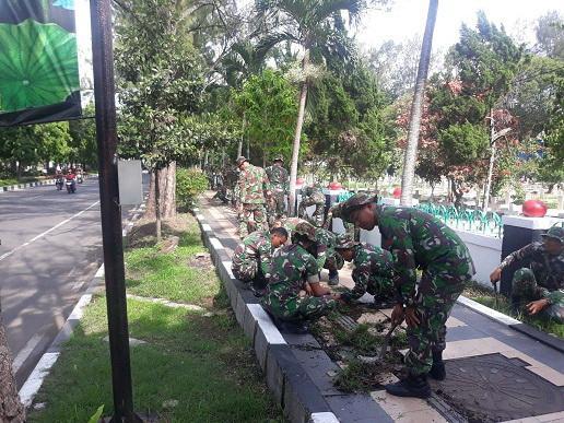 Peringati Hari Juang TNI AD,Yonarmed 1/Roket Gelar Karya Bakti