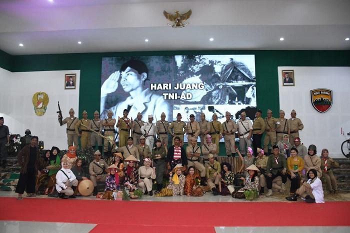 Hari Juang TNI AD, Laskar Pejuang Sambangi Balai Prajurit Kodam I/BB di Gatsu Medan