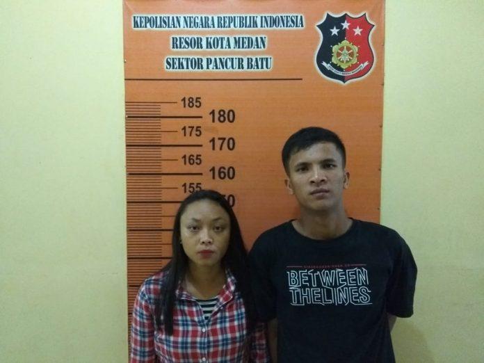 Polsek Pancur Batu Tangkap Pasangan Kekasih Pelaku Curanmor Sembunyi di Hotel Melati