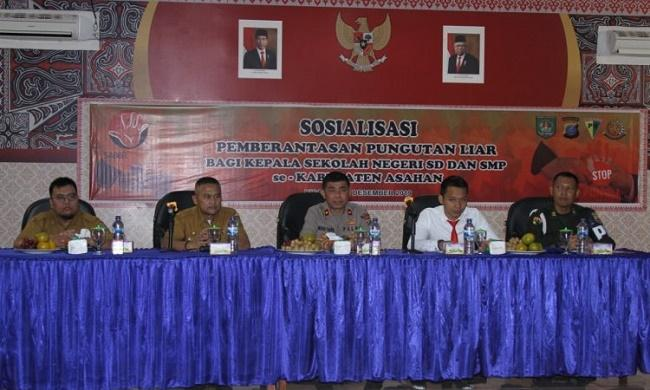 Bersihkan Praktek Pungli, Kepala Sekolah SD dan SMP Negeri se-Kabupaten Asahan Terima Pembekalan