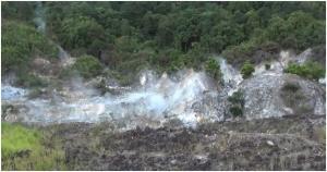 Pesona Kawah Barelang Aek Horsik di Tapanuli Selatan