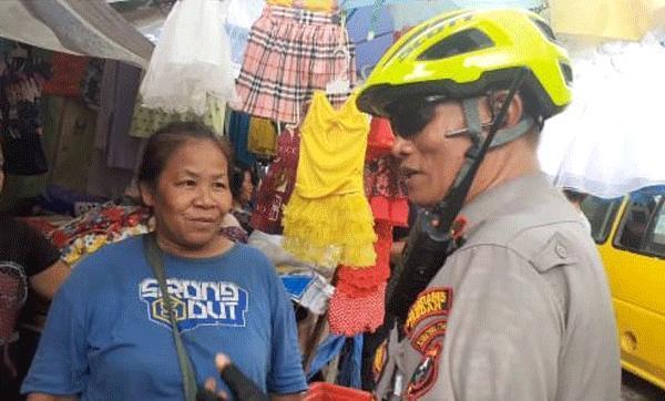 Patroli Bersepeda, Kapolsek Medan Timur Susuri Kawasan Pasar Sambu