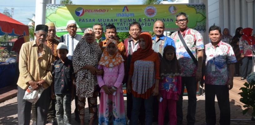 Pelindo 1 Gelar Pasar Murah dan Santuni Anak Yatim Piatu di 14 Cabang Pelabuhan