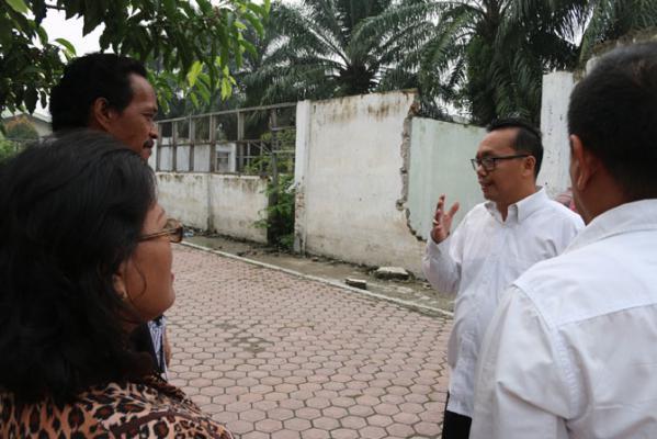 Ramadhan Pohan Prihatin Sekolah Rusak di Medan
