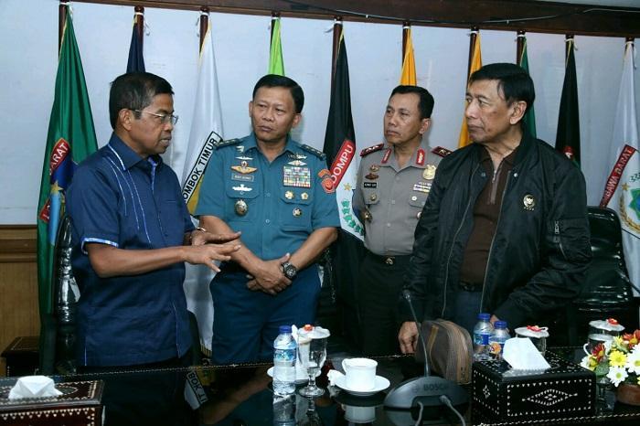 Kasum TNI Dampingi Menkopolhukam Rapat Koordinasi Pemerintah Daerah