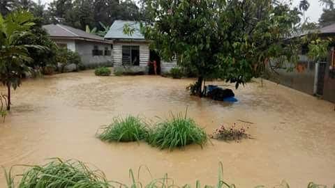 Hujan Deras Sepanjang Malam, Ratusan Rumah di Langkat Terendam Banjir