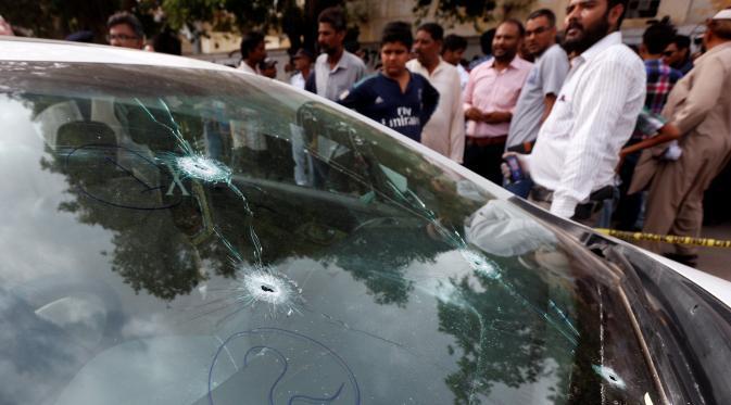 Polres Banda Aceh Lakukan Penyelidikan Mobil Tak Bertuan yang Dibrondong Peluru
