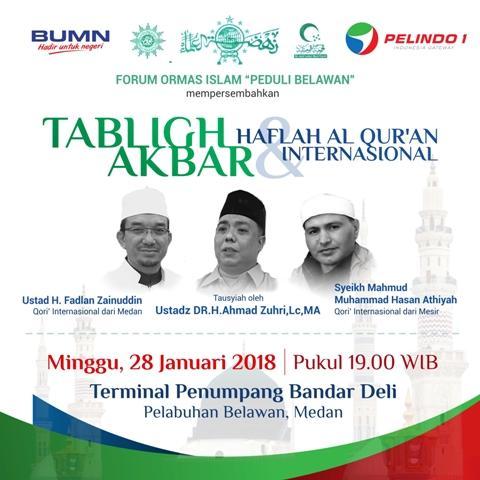 Minggu 28 Januari Mendatang, Pelindo 1 Akan Gelar Tabligh Akbar dan Haflah Alquran Internasional
