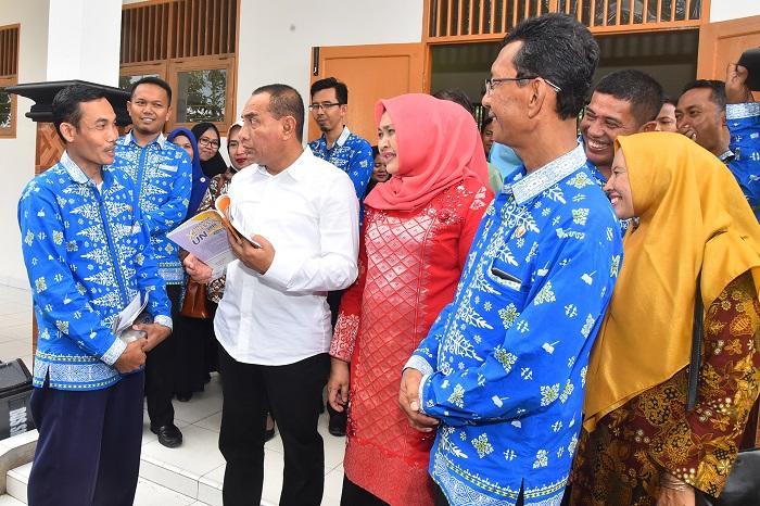 Gubsu Kunjungi SMKN 1 Air Putih Kabupaten Batubara