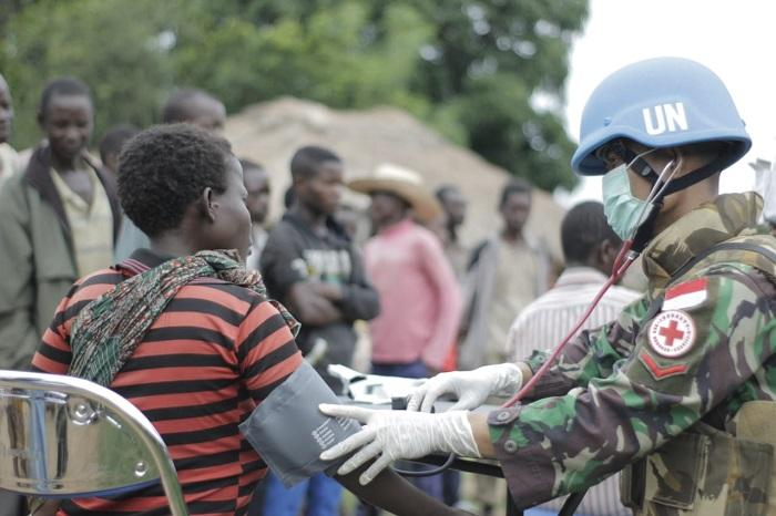 Prajurit Satgas TNI Konga XXXIX-A RDB Gelar Baksos di Kongo
