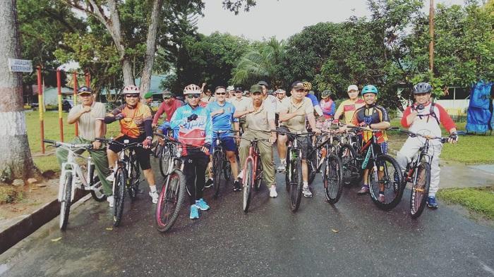 Dandim 0209/LB Gowes Keliling Kota Rantauprapat dengan Sepeda