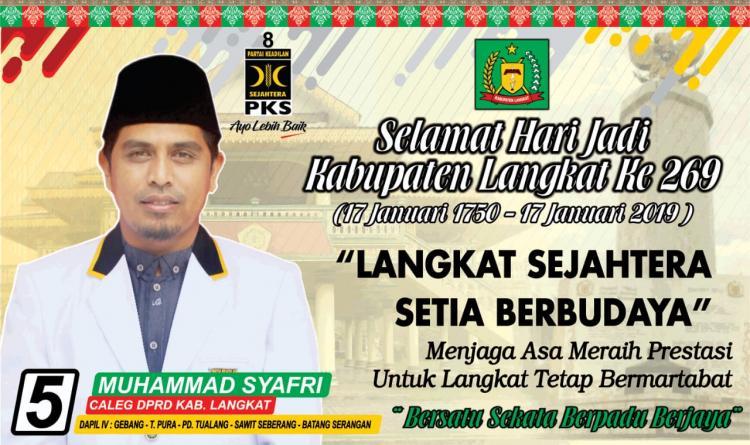 Sejumlah Komunitas Siap Hantarkan Muhammad Syafri ke DPRD Langkat