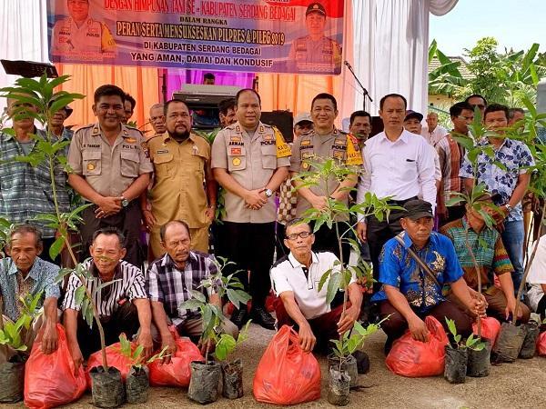 Sukseskan Pilpres dan Pileg 2019, Kapolres Sergai Silaturahmi dengan Himpunan Tani se-Kabupaten Sergai