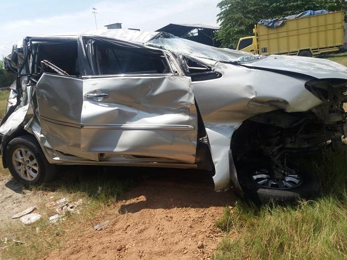 Kecelakaan Maut Tol Tebing Tinggi-Medan, 1 Tewas, Empat Terluka dan Patah Tulang