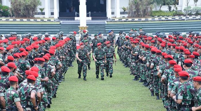 Panglima TNI Pimpin Apel Kesiapan Satuan Kopassus